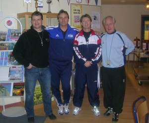 Soccer Coaches at the seminar in Sweden