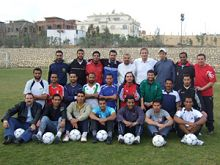 Soccer coaches at the seminar in Egypt